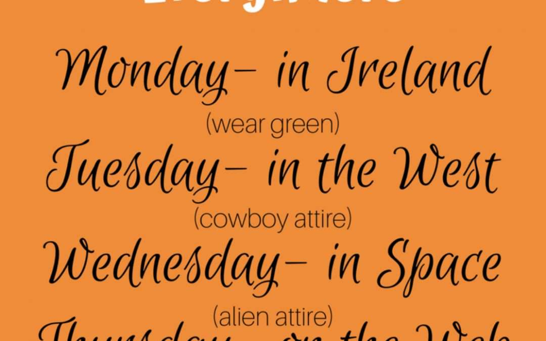 Student Council Dress Up Week!