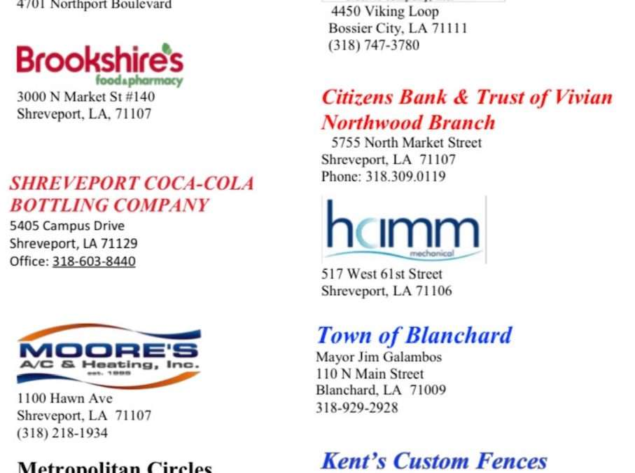 Thanks to Sponsors for Successful Taste of Blanchard