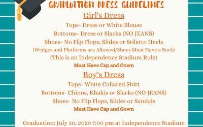 Class of 2020 Graduation Dress Guidelines
