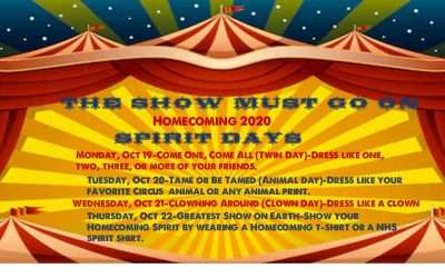 NHS Homecoming 2020- It's Time to Dress Up!