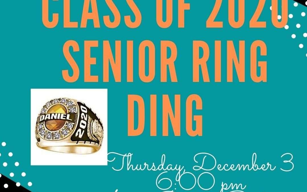 Senior Class of 2021 Ring Ceremony